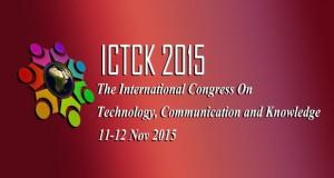 فراخوان مقاله دومین کنگره بین المللی حضوری/مجازی فن آوری، ارتباطات و دانش ICTCK2015، آبان ۹۴، دانشگاه آزاد اسلامی مشهد