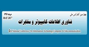 فراخوان مقاله چهارمین کنفرانس ملی فناوری اطلاعات، کامپیوتر و مخابرات، خرداد ۹۶، دانشگاه تربت حیدریه