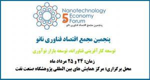 فراخوان مقاله پنجمین مجمع اقتصاد فناوری نانو، مرداد ۹۶، ریاست جمهوری - معاونت علمی و فناوری - ستاد ویژه توسعه فناوری نانو
